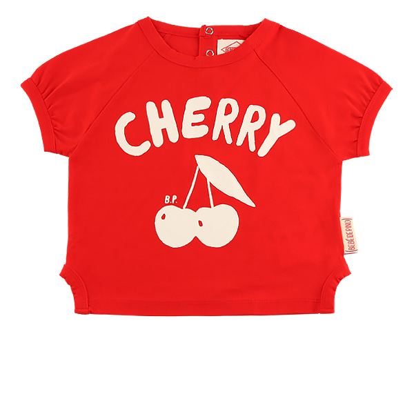 Cherry baby short sleeve ringer tee