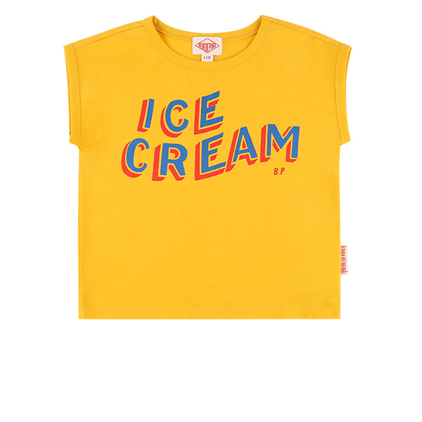 Ice cream drop shoulder tee