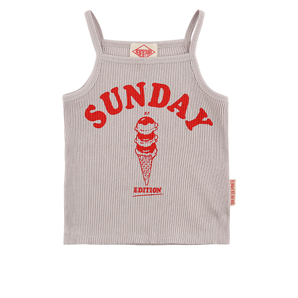 Sunday ice cream baby tank top