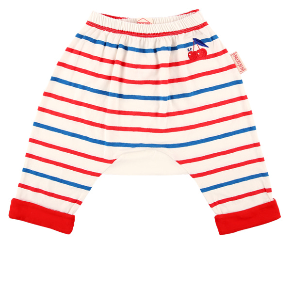 Cherry baby multi stripe roll up baggy pants