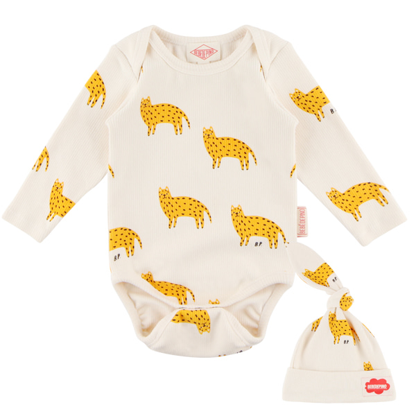 Multi cheetah baby bodysuit set  NEW FALL