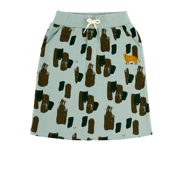 Khaki camo midi sweat skirt