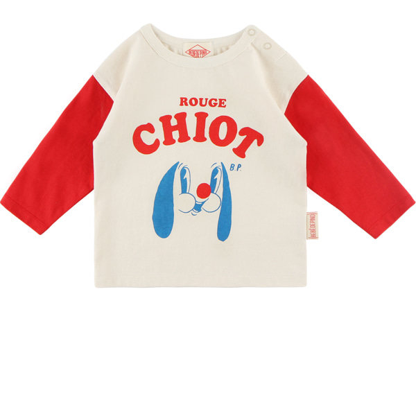Rouge chiot baby color block long sleeve tee  NEW FALL