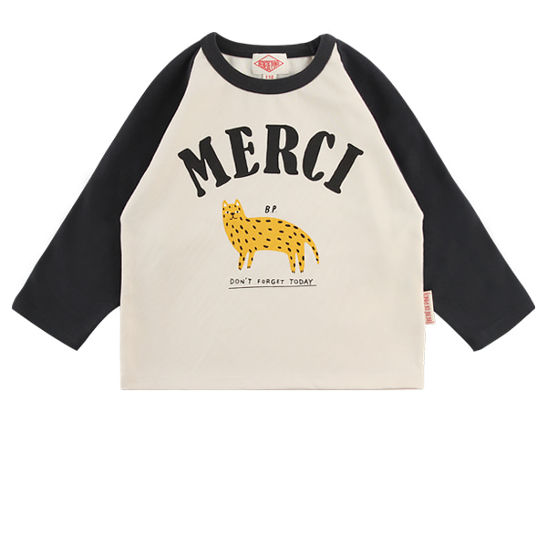 Merci color block raglan long sleeve tee  NEW FALL