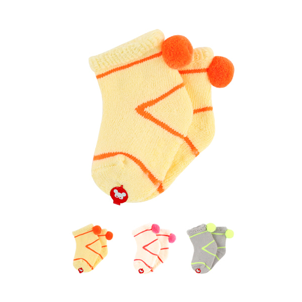 Newborn neon pompom sleeping socks  NEW FALL