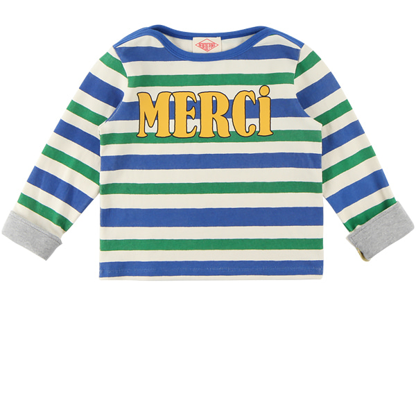 Merci multi stripe turn up sleeve tee  NEW FALL