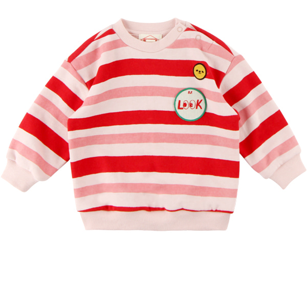 Multi stripe look baby loose fit sweatshirts