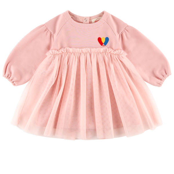 Heart baby tutu volume dress