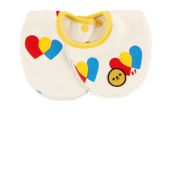 Multi heart baby collar bib
