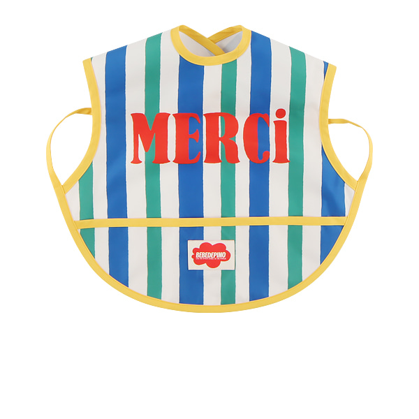 Merci baby stripe feeding bib