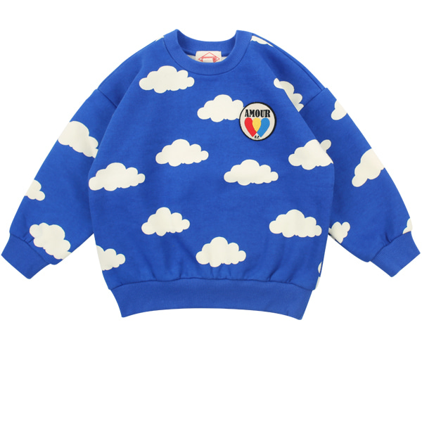 Multi cloud loose fit sweatshirt  NEW WINTER