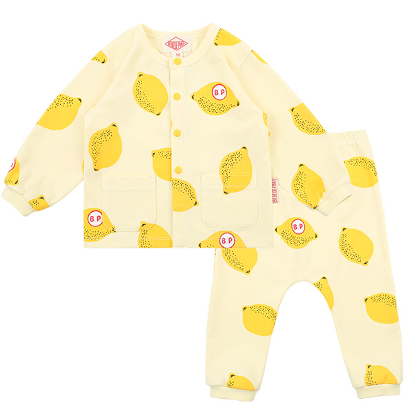 Multi lemon baby homewear set  NEW SPRING