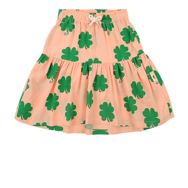 Multi clover mid-length skirt  NEW SUMMER