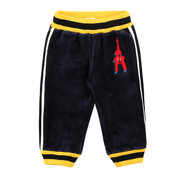 Eiffel tower baby velour pants  (SO SO EVENT)
