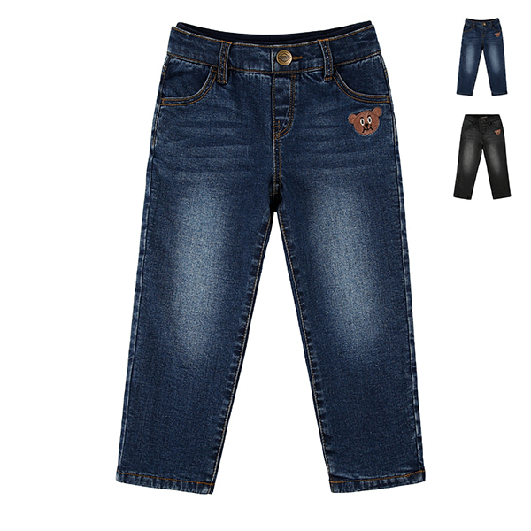 Willy bear fleece lining washing denim pants  (SO SO EVENT)