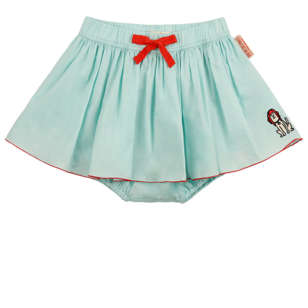 Puppy baby mint bloomer skirt_