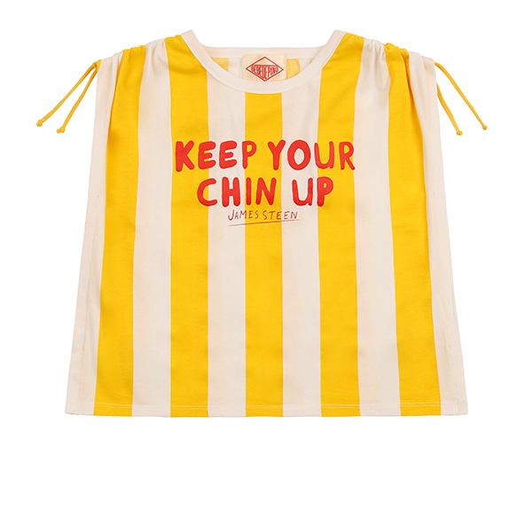 Letter bold stripe Poncho tee_