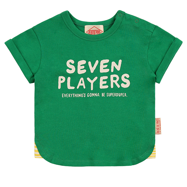 Seven players baby roll up short sleeve tee_