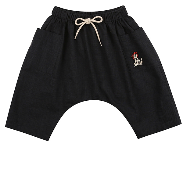 Puppy embroidery baggy summer shorts_