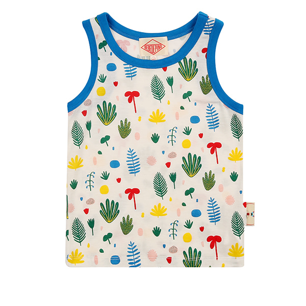 Multi tropical color block tank top_