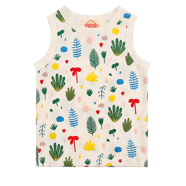 Multi tropical baby tank top_