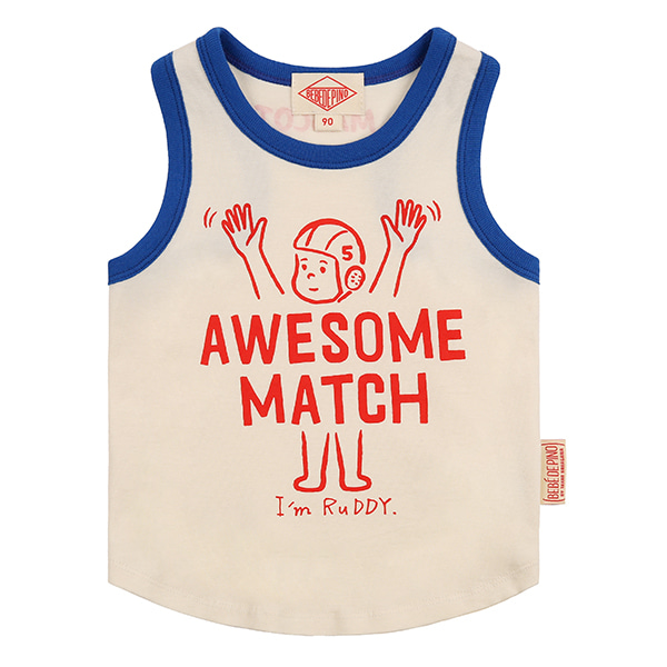 Awesome match baby color block tank top_
