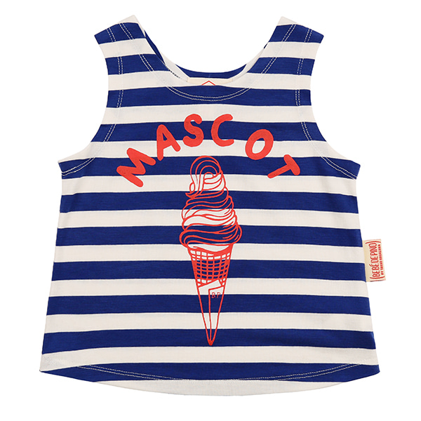 Mascot ice cream baby stripe tank top_