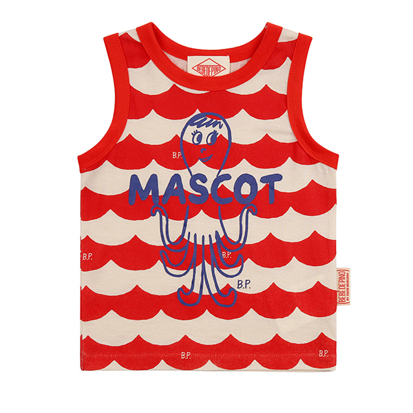 Multi scarlet wave baby tank top_