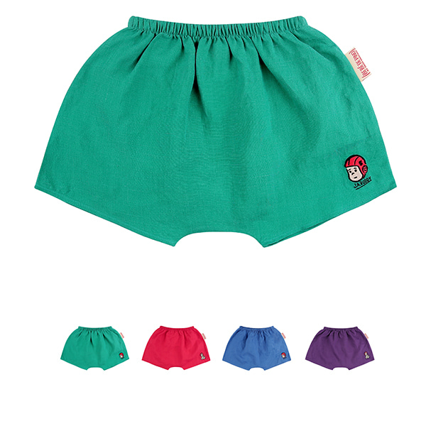Colorful summer linen shorts_