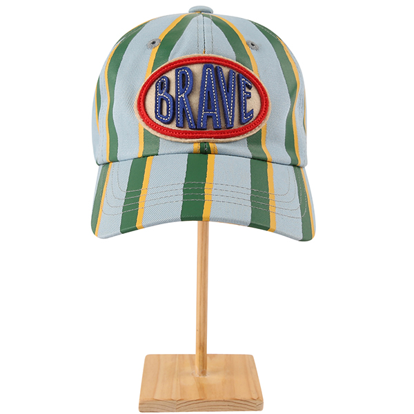 Brave stripe color block baseball cap_