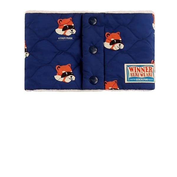 Multi lesser panda quilted blue snood