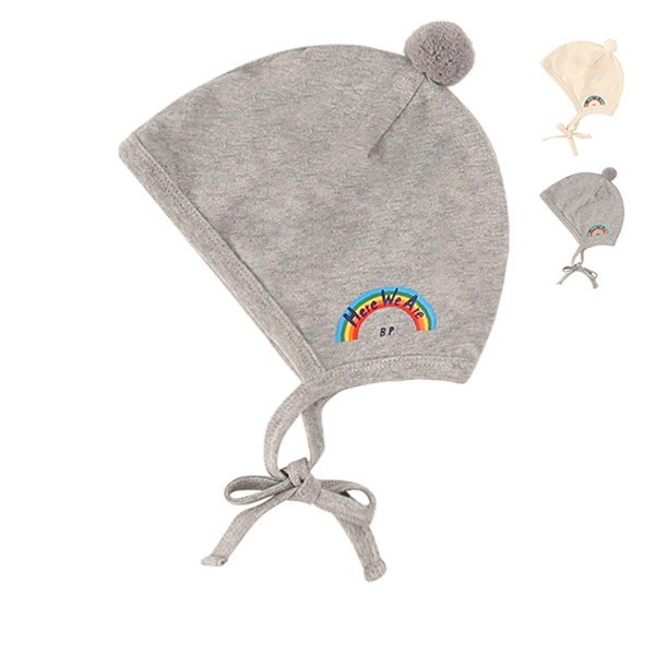 Rainbow newborn bonnet_