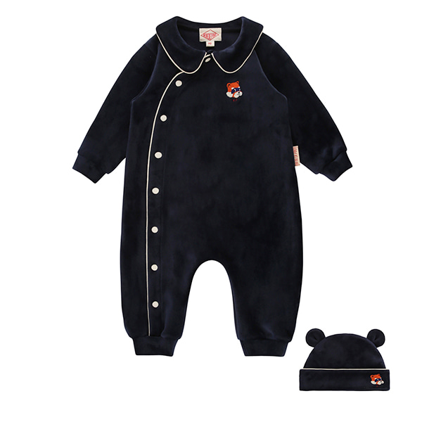 Lesser panda baby velour suit set