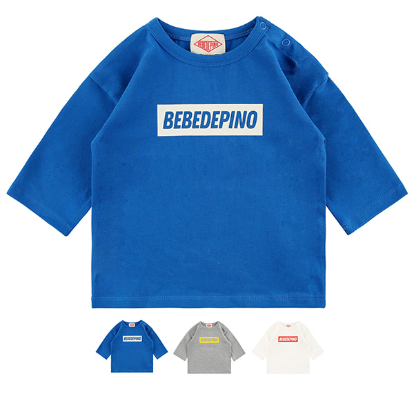 Basic baby bebedepino logo three-quarter tee_