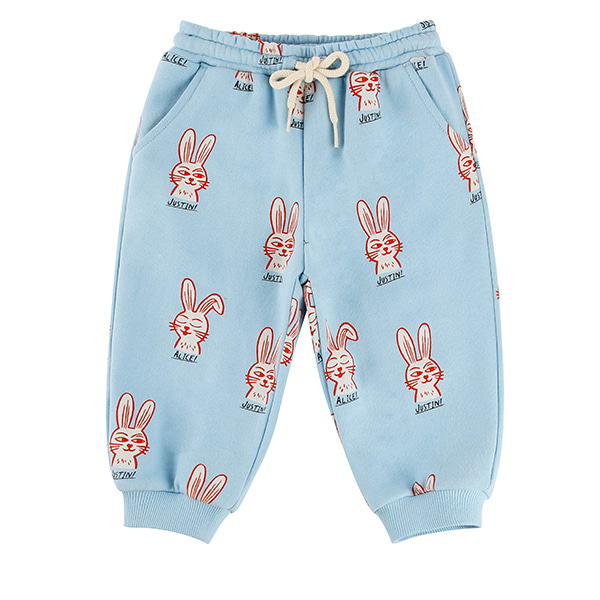 Multi rabbit baby sweat pants_