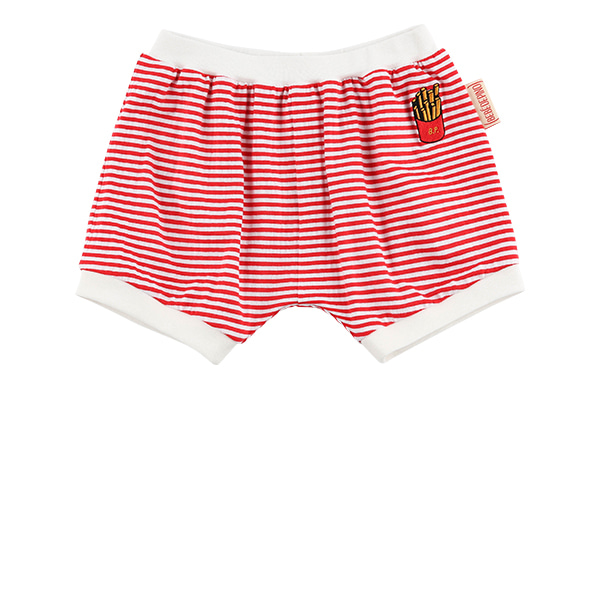 French fries baby stripe jersey bloomer
