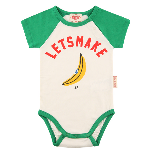 Let's make baby raglan short sleeve bodysuit
