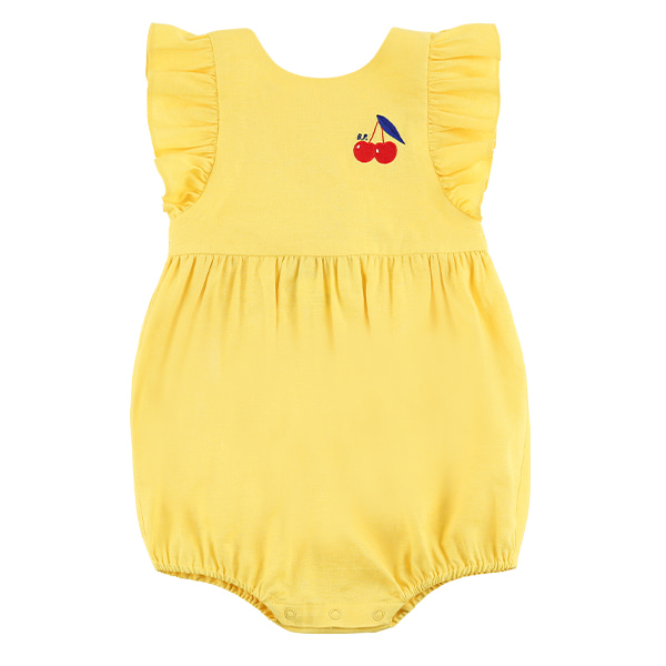 Cherry baby yellow ruffle playsuit