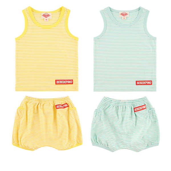 Basic baby stripe homewear set