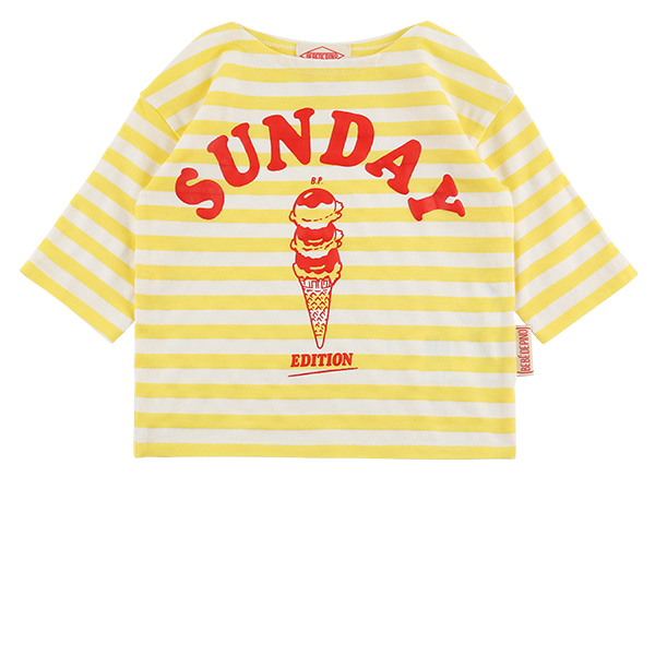 Sunday ice cream baby three-quarter tee