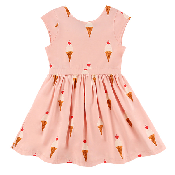 Multi ice cream back ribbon dress
