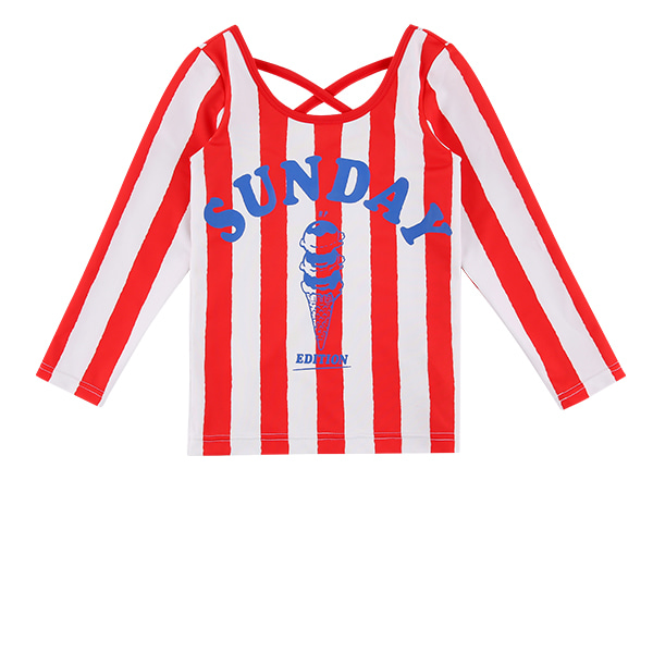 Sunday bold stripe rash guard