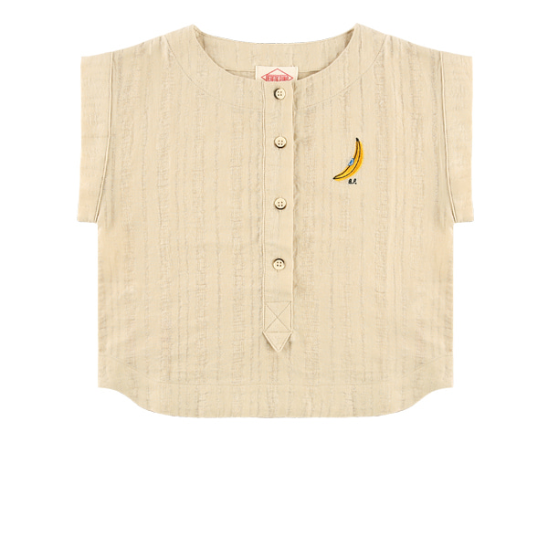 Banana french sleeve cotton blouse