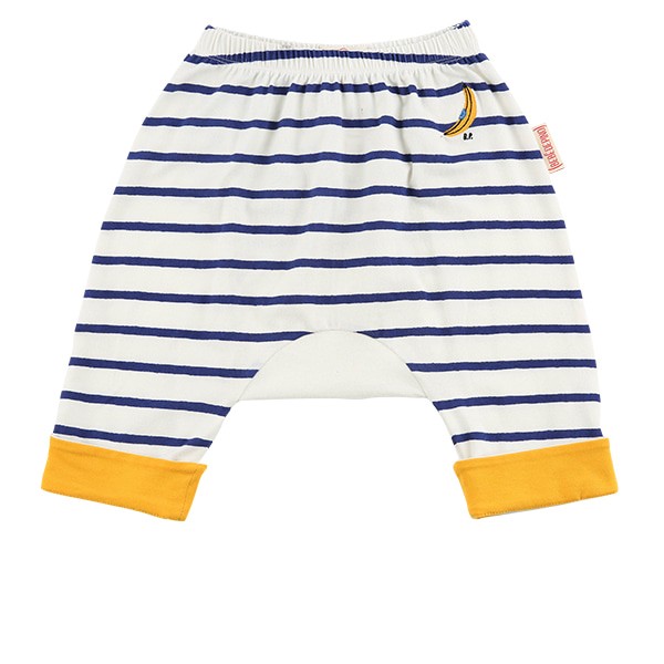 Banana baby stripe roll up baggy pants