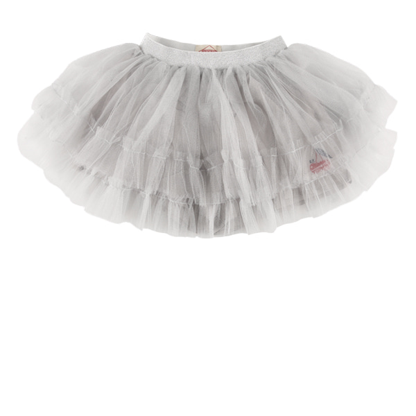 Cherry sparkling tiered tulle skirt