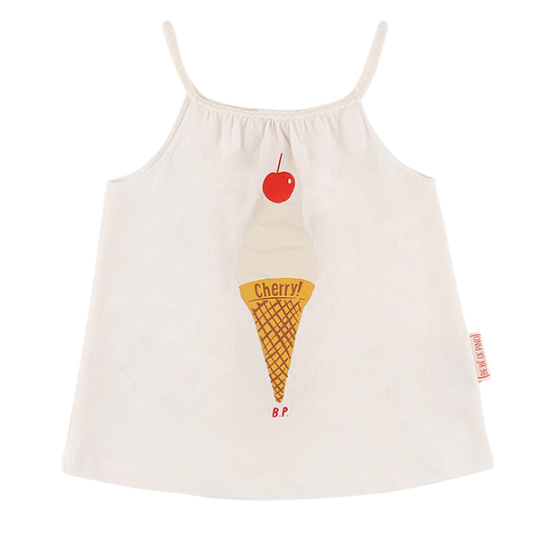 Ice cream cropped tank top