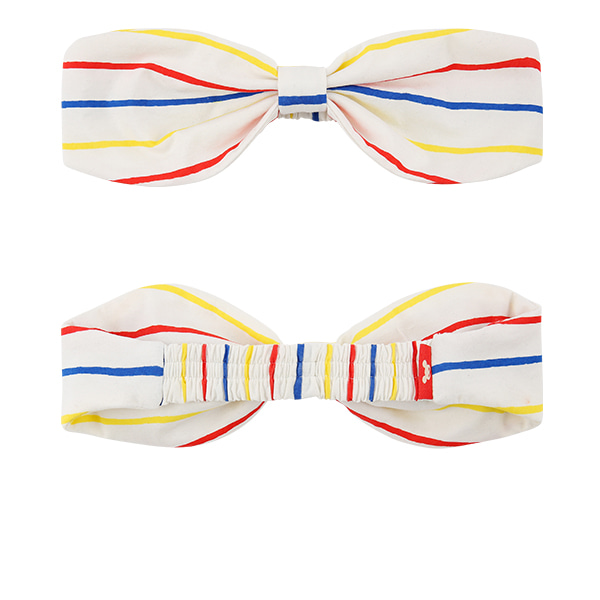 Multi stripe ribbon headband