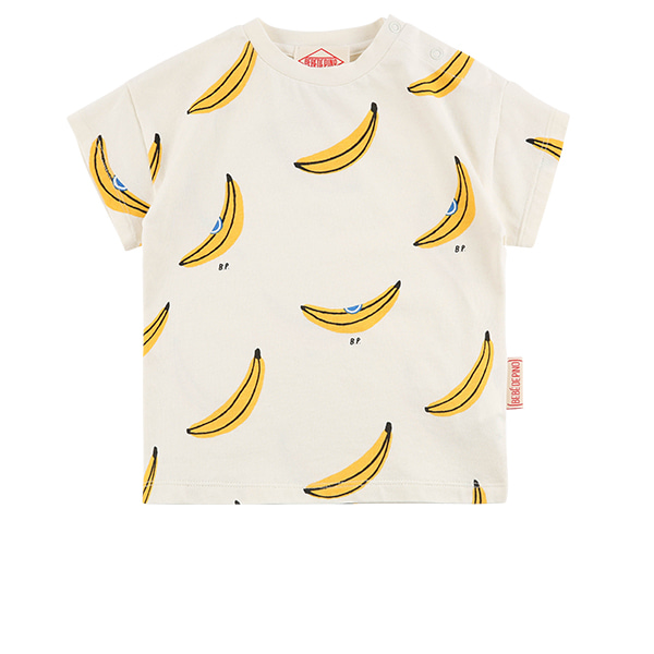 Multi banana baby drop shoulder short sleeve tee