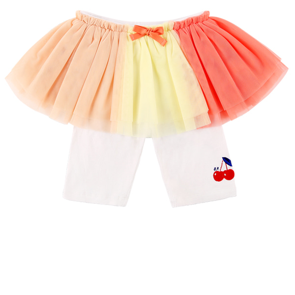 Cherry baby color block tutu leggings