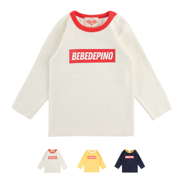 Basic baby colorblock long sleeve tee